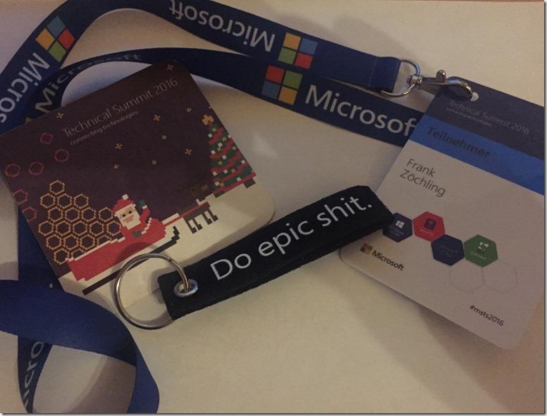 Microsoft Technical Summit 2016