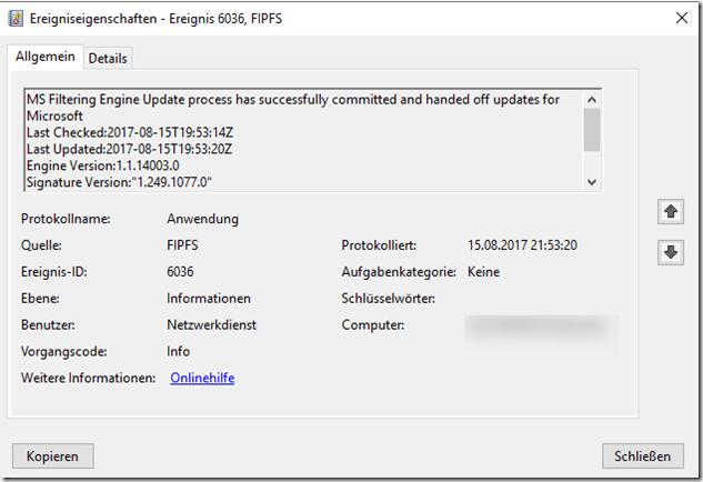 Kleiner Schadsoftwarefilter Test