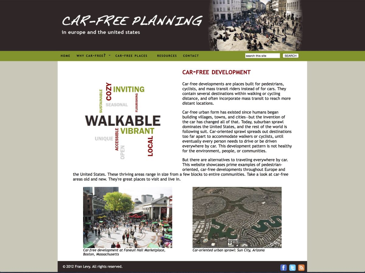 """Car-free Cities"" website"