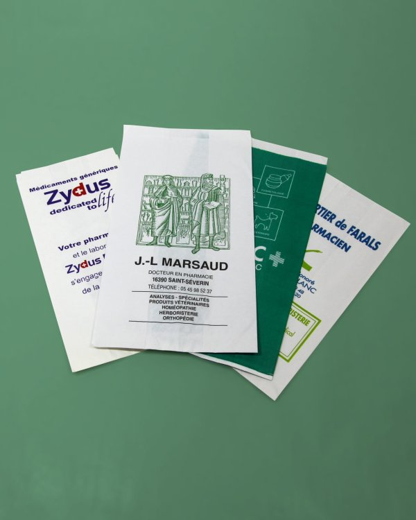 sachets papier pharmacie
