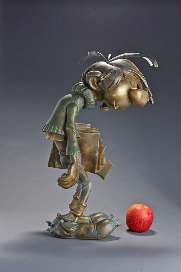 Gaston Lagaffe - Bronze par Samuel Boulesteix