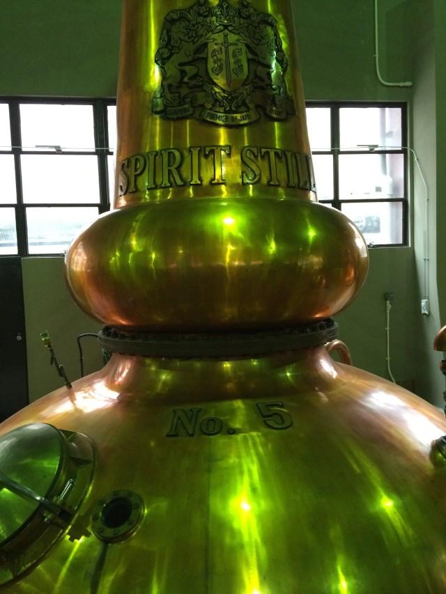 Whisky stills in Suntory Yamazaki Distillery Japan