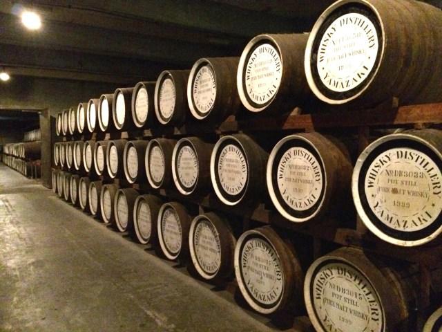 Barrels of Whisky Suntory Yamazaki Distillery Japan