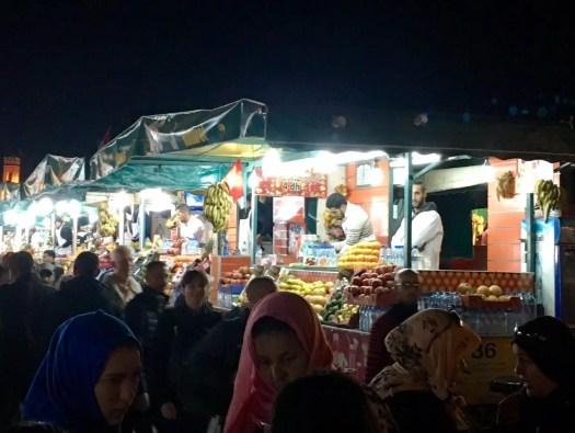 Juice sellers of Jemaa el-Fnaa