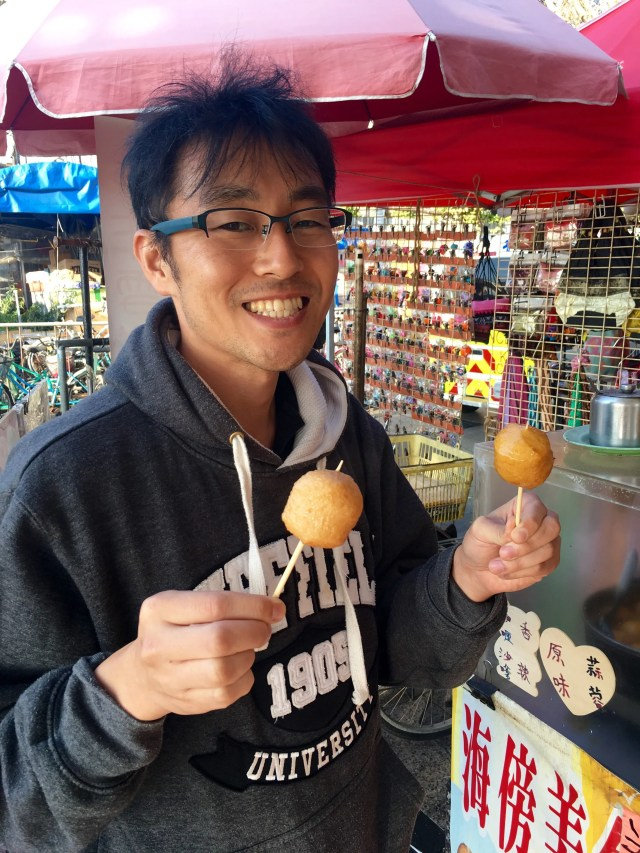 Fish balls - plain and curry flavoured