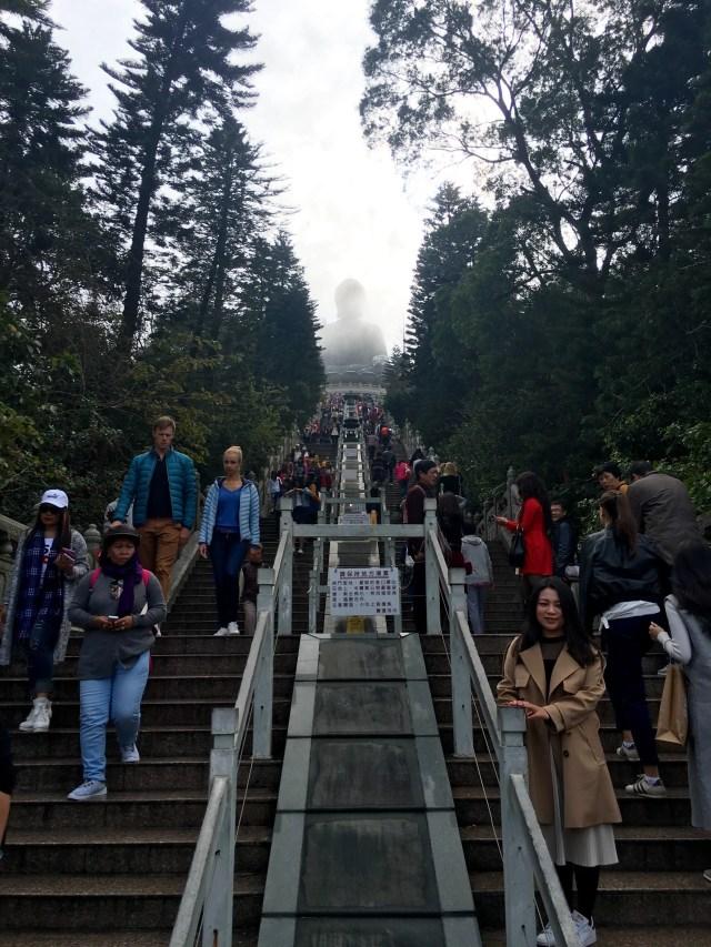Stairs to the Tian Tan Buddha