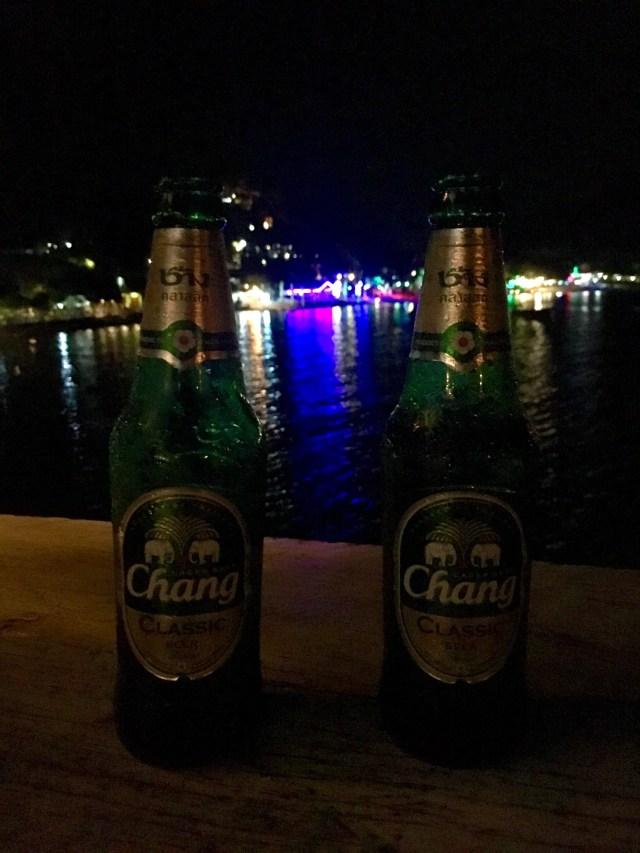 Phi Phi lit up at night