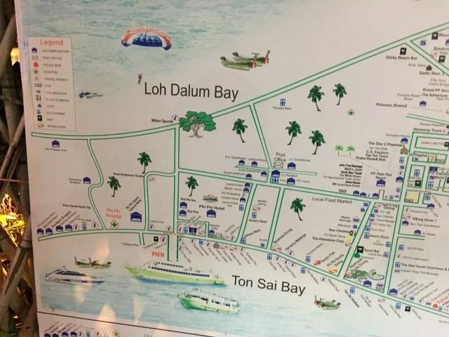 Map of Koh Phi Phi