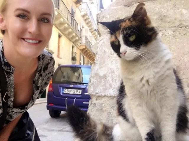Cat selfie, Valletta, Malta