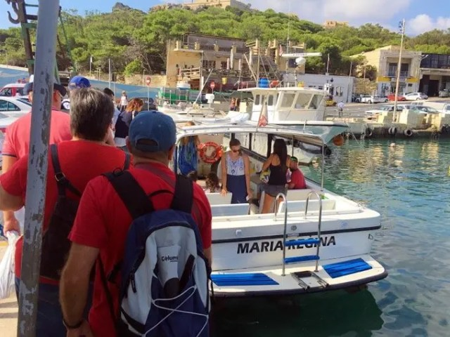 Boat to the Blue Lagoon from Gozo