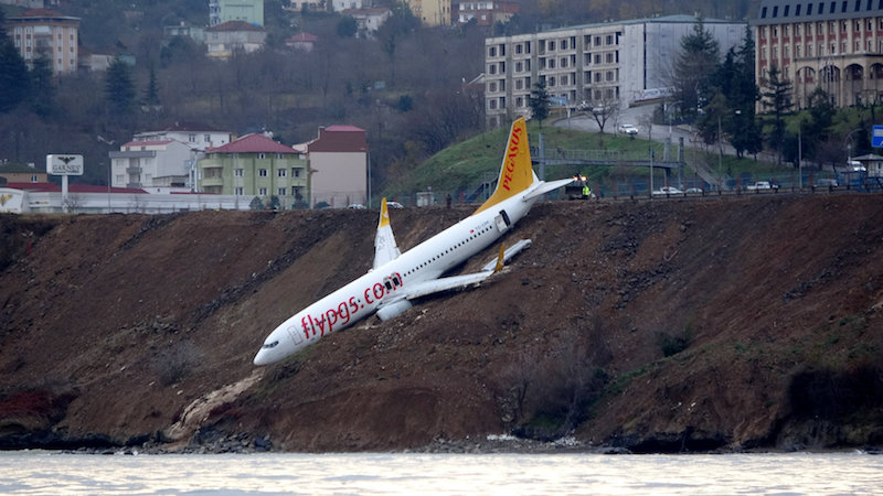 JUST IN: VIDEO: Passenger Plane Skidded off Runway of Trabzon Airport In Turkey