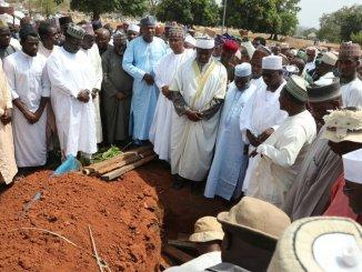 The burial of Senator Ali Wakili.