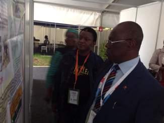 John Idoko Running through SFH Nigeria HIV Intervention Activities at the 18th ICASA held in Zimbabwe