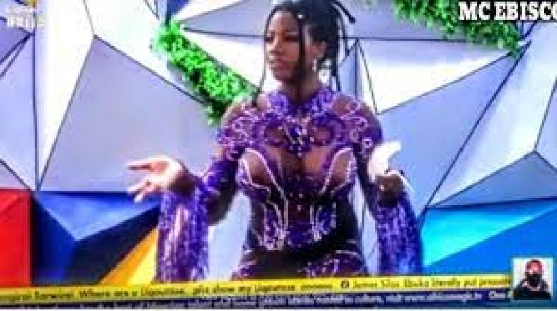 BBNaija's Angel's father hails her see-through outfit - Sleek Gist