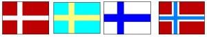 Noordkaap vlaggen