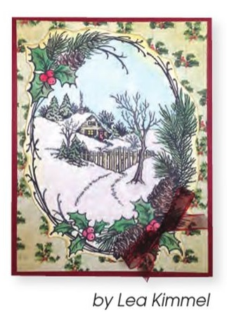 Stampendous Cling Mounted Rubber Stamp Christmas Cottage