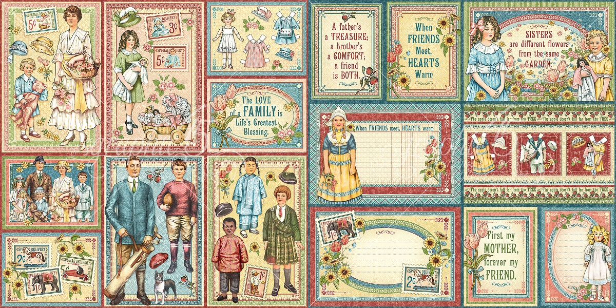 Graphic 45 Pennys Paper Doll Family Collection