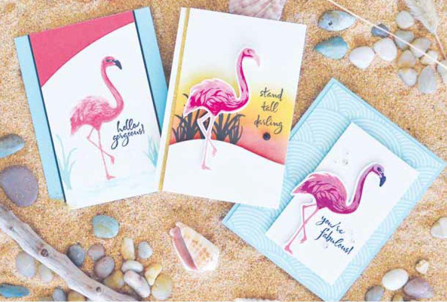 Hero Arts Clear Stamp Color Layering Flamingo