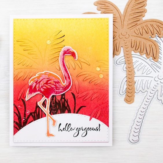 Hero Arts Clear Stamp Color Layering Flamingo