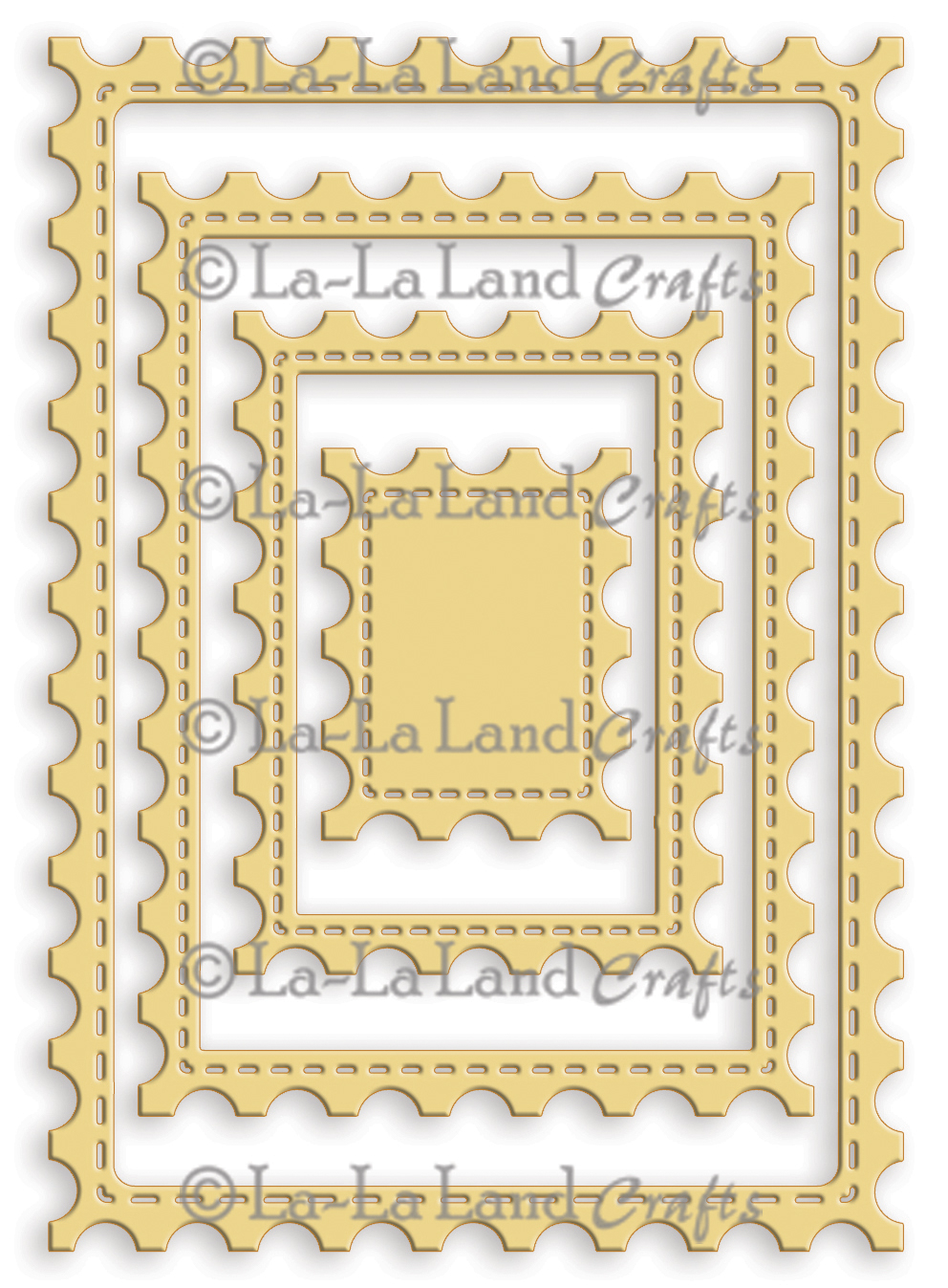 La La Land Crafts Die Postage Stamp Die Set