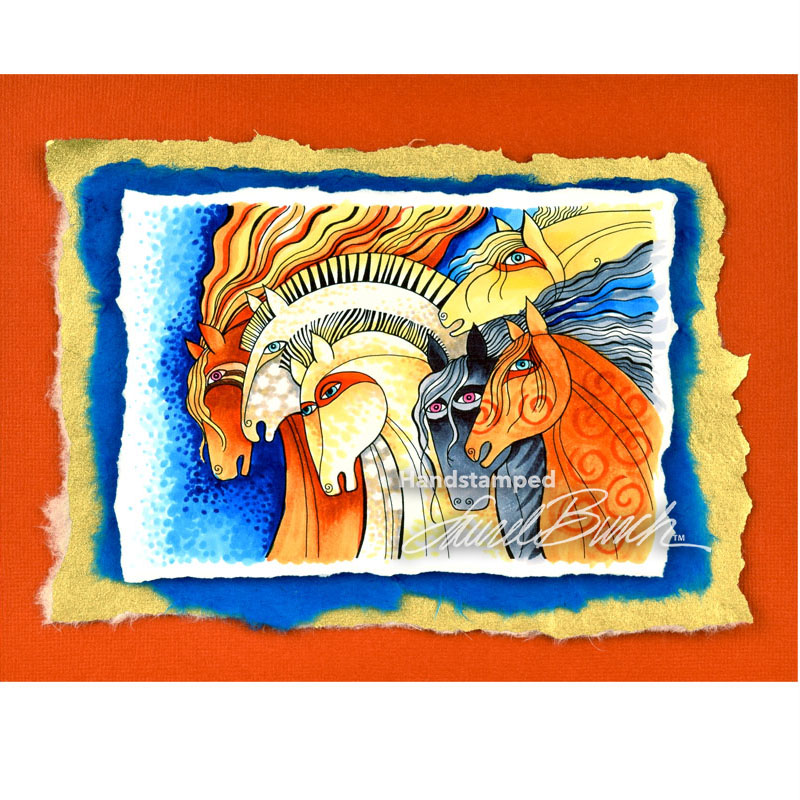Stampendous Laurel Burch Cling Rubber Stamp Wild Horses