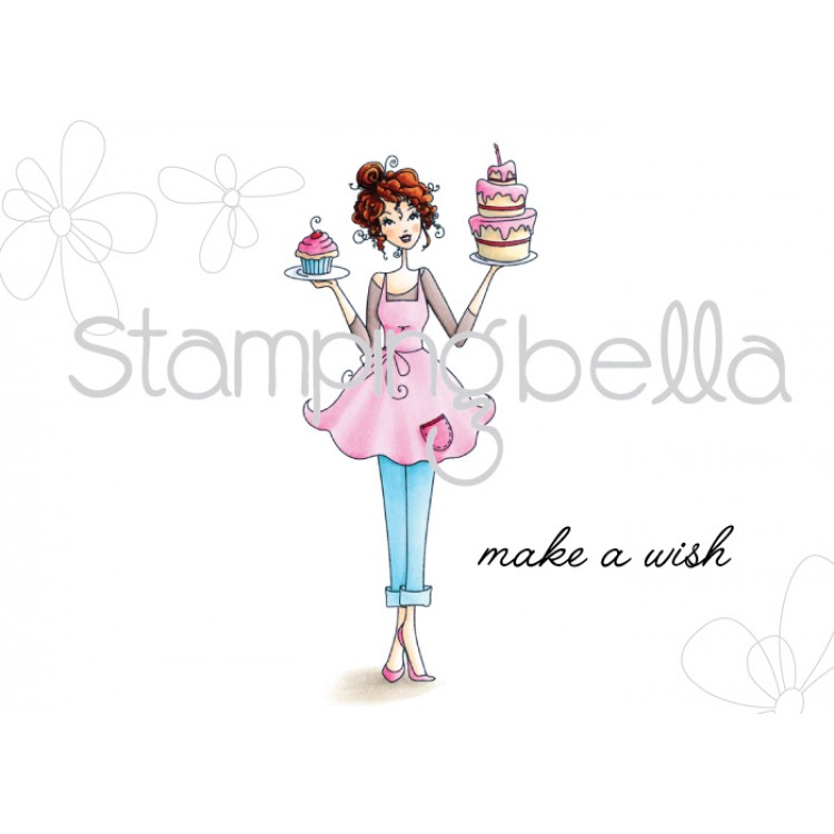 Stamping Bella Cling Rubber Stamp Cakeabella