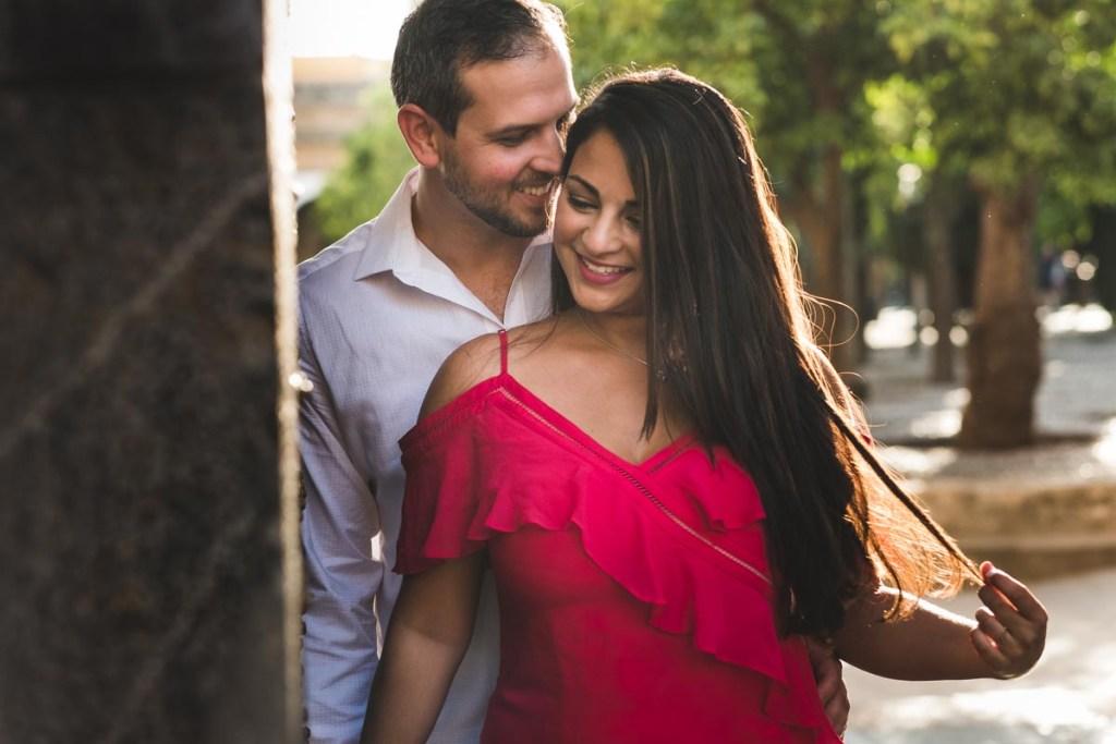 Sesión de compromiso en Córdoba, complicidad de pareja