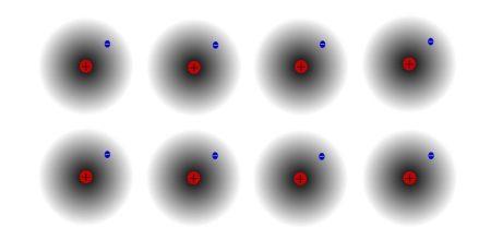 Átomos de hidrógeno idénticos. Bloques mínimos de la materia