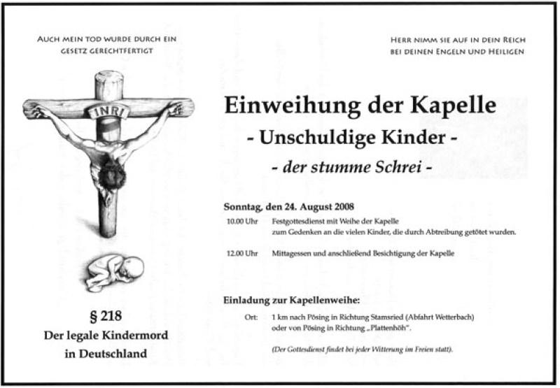 Einladung zur Kapelle