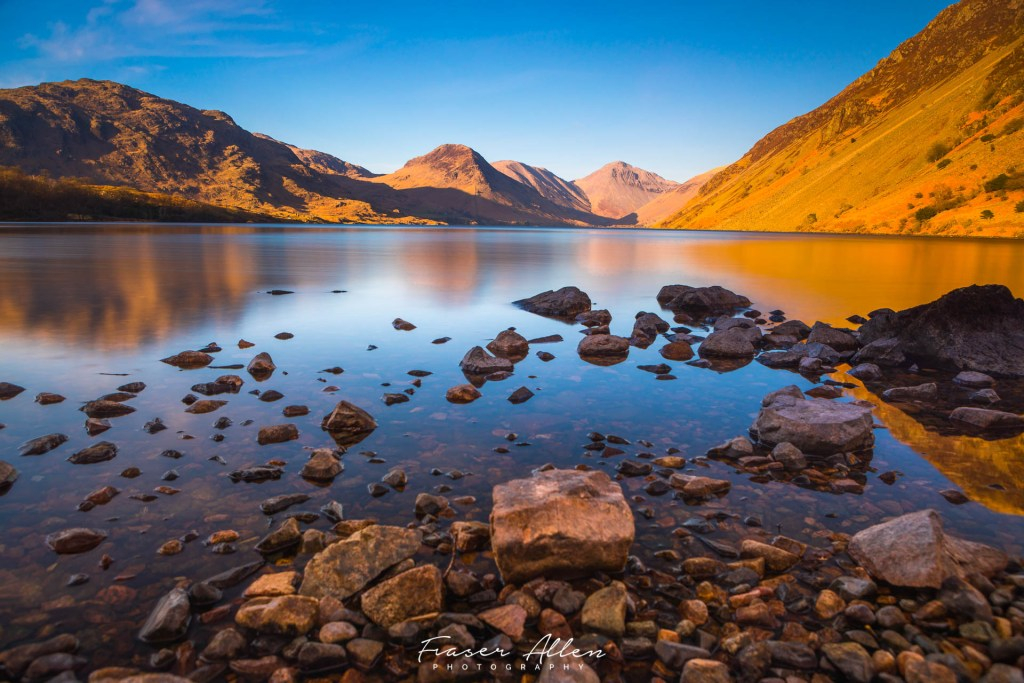 sunset at Wast Water in The Lake Districts