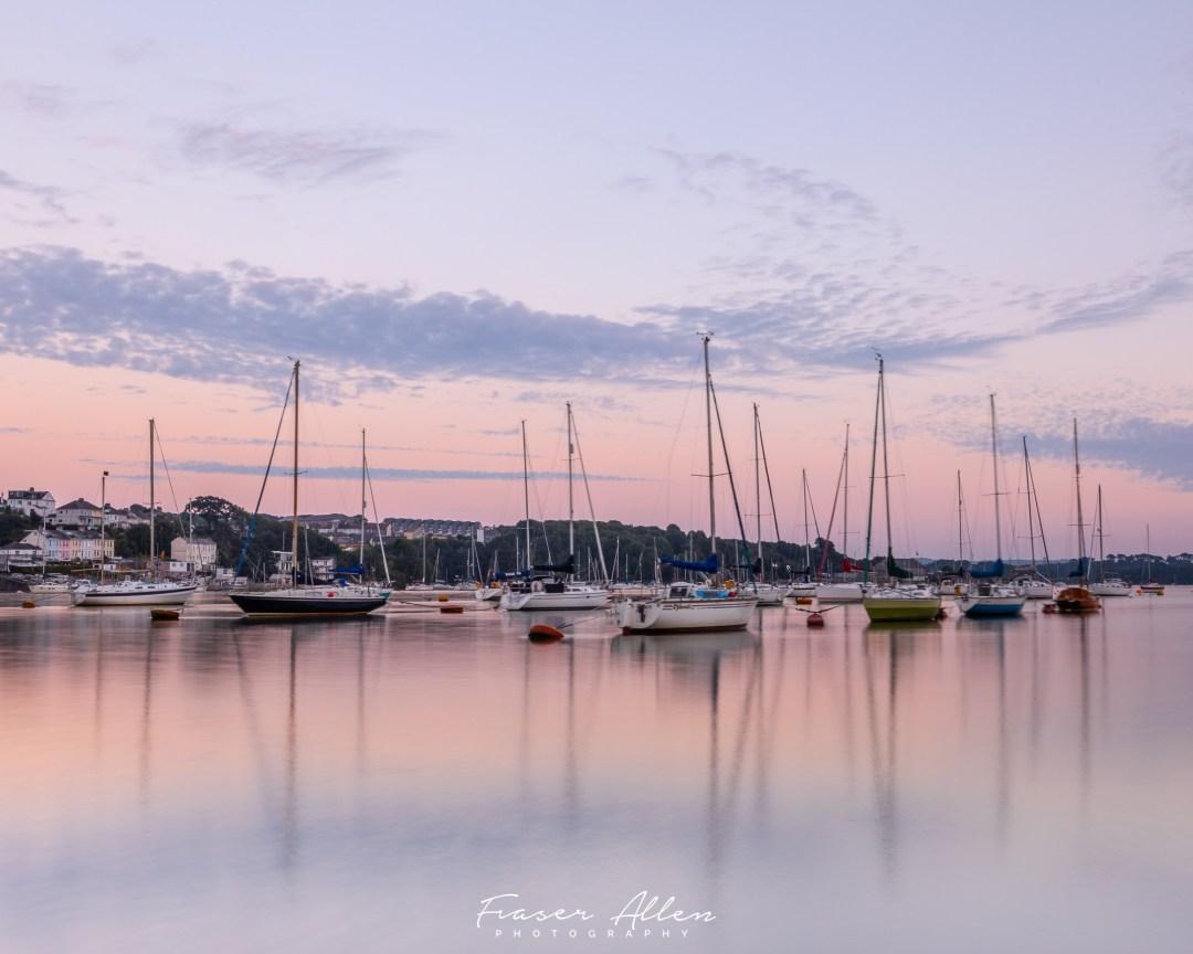 yachts on the Tamar
