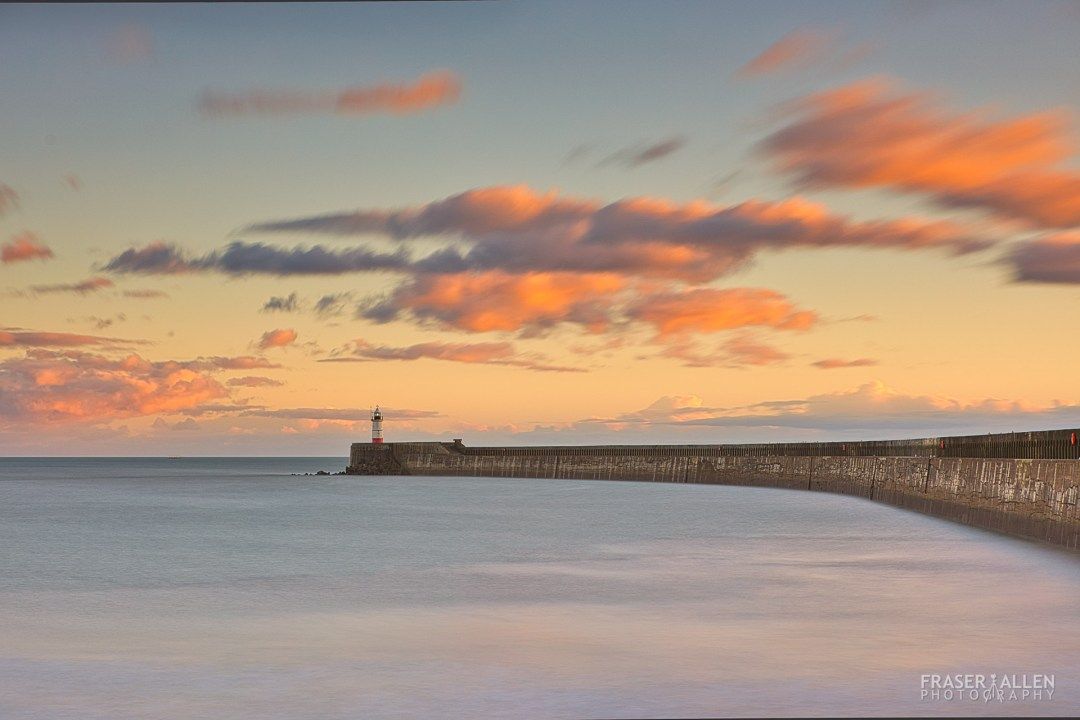 sunset at Newhaven Pier