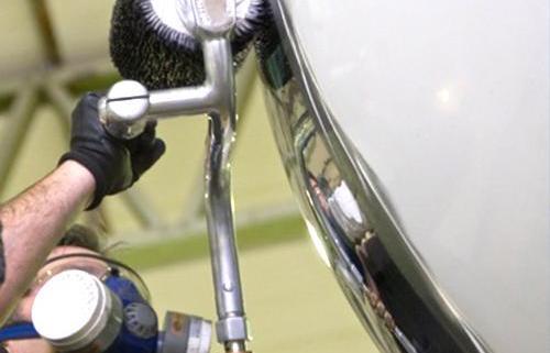 aluminium bright work polishing