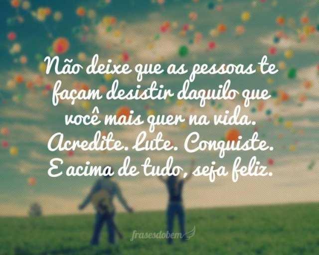 Seja feliz