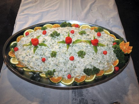Dill, potato and egg salad