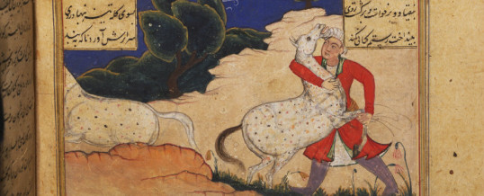 Rostam Nameh 9B: Rostam obtains the Babrebiyan and Raksh