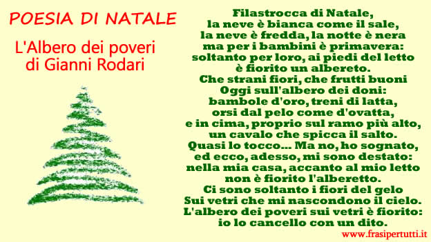 Poesia Natale Rodari.Poesia Di Natale Frasi Per Tutti