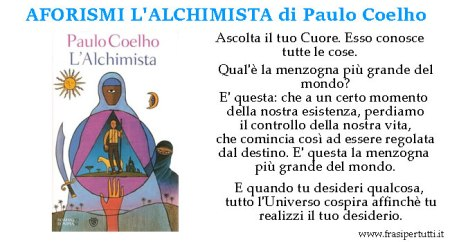 Aforismi l'Alchimista Paulo Coelho