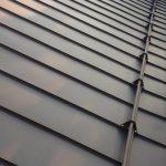 Tetto in pannelli di alluminio aggraffato