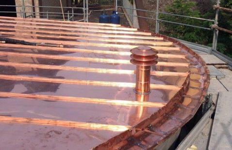 Realizzazione tetto e lattoneria in rame per abitazione