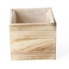 Cassetta legno quadrata 10x10x10 cm naturale