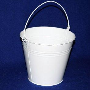 Secchiello latta bianco D20