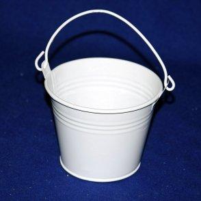 Secchiello latta bianco D10