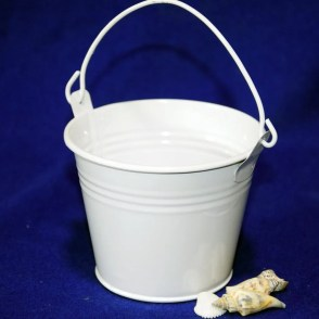 Secchiello latta bianco D8