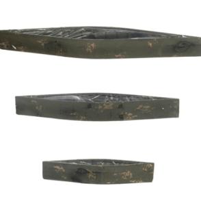 Contenitore legno a barca  – Verde antico