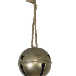 Campanello in metallo D10 cm – Oro anticato