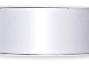 Nastro doppio sateen Bianco 40mm