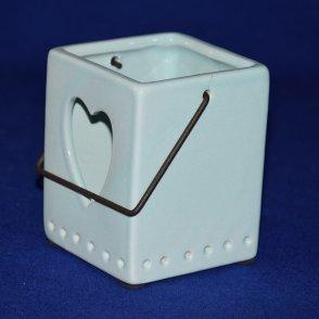 Lanterna ceramica azzurra