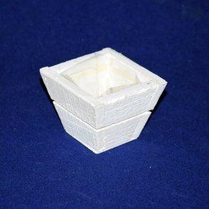 Vaso legno bianco