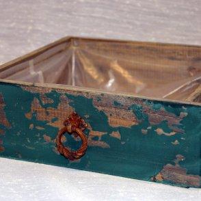 Cassetto legno verde